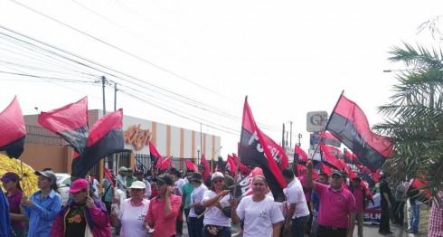 CST marcha por el Día Internacional del Trabajo. LAPRENSA/ Emiliano Chamorro.