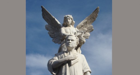 Monumento de Rubén Darío en Managua. LAPRENSA/ARNULFO AGÜERO