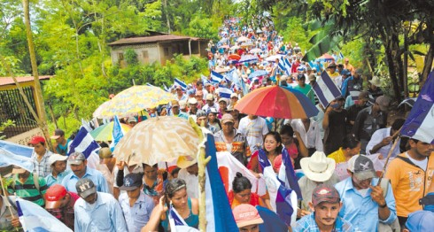 campesinos anticanal, marcha anticanal, Nicaragua, Canal Interoceánico, Gran Canal, Gran Canal de Nicaragua