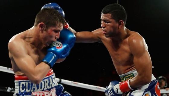 Carlos Cuadras (izquierda) brindó la mejor pelea de su carrera frente al nicaragüense Román González el pasado 10 de septiembre en Estados Unidos. Foto: AFP