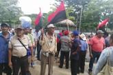 Extrabajadores cañeros protestan en Asamblea