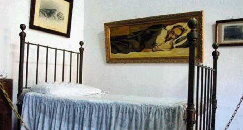 Museo archivo Rubén Darío en León, donde se exhiben los objetos personales de Rubén Darío: pinturas, fotografías y retratos, así como la cama donde murió. LA PRENSA/URIEL MOLINA