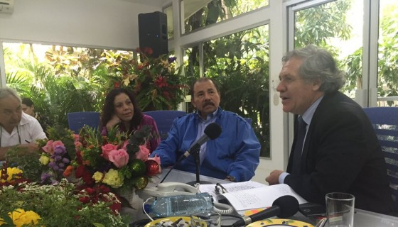 OEA, Luis Almagro, Daniel Ortega