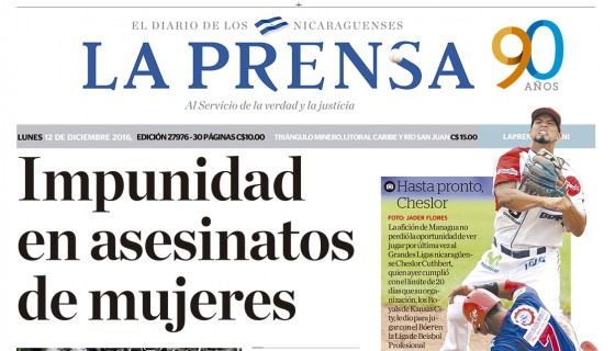 PORTADA DE LA LA PRENSA