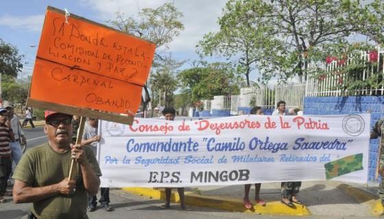 retirados, exmilitares, Ejército Popular Sandinista, pensión