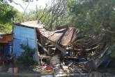 Tres casas destruidas por caída de árbol en San Juan del Sur