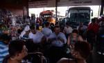 Socios de la Cooperativa de Transporte Interurbano del Centro de Nicaragua (Cootrasenic)  cuentan con más de 34 buses y viajan a San Carlos, El Rama, Nueva Guinea, Camoapa, Waslala y otros puntos. LAPRENSA/M.ESQUIVeL
