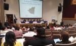 Asistentes a la presentación de la Cartografía Digital y Censo de Edificaciones 2017 en 90 municipios. LA PRENSA / R. MONCADA